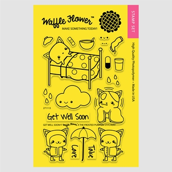 Waffle Flower GET WELL SOON Clear Stamp Set 271113