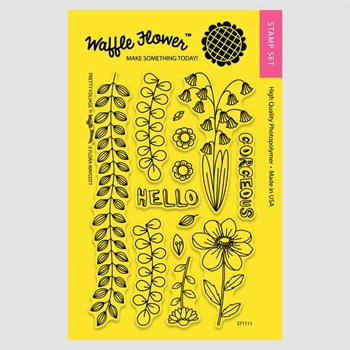 Waffle Flower PRETTY FOLIAGE Clear Stamp Set 271111