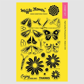 Waffle Flower PRETTY WINGS Clear Stamp Set 271110
