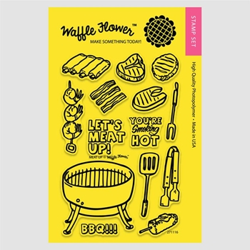 Waffle Flower MEAT UP Clear Stamp Set 271116