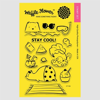 Waffle Flower STAY COOL Clear Stamp Set 271106