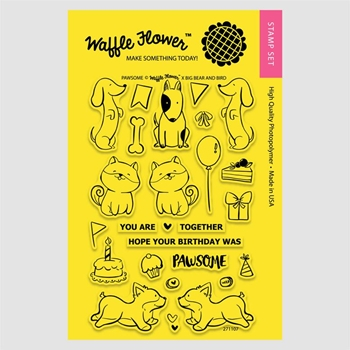 Waffle Flower PAWSOME Clear Stamp Set 271107