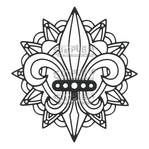 Stamplistic FLEUR DE LIS Craft Die X170401 Preview Image Shadow