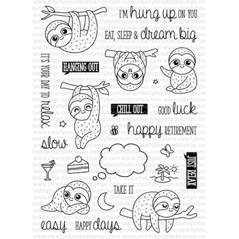 Clearly Besotted HUNG UP ON YOU Clear Stamp Set