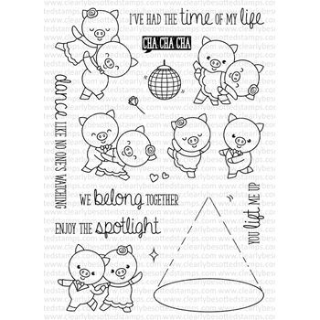 Clearly Besotted CHA CHA CHA Clear Stamp Set