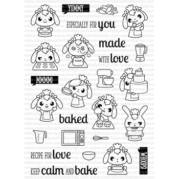 Clearly Besotted BAKING BUNNIES Clear Stamp Set