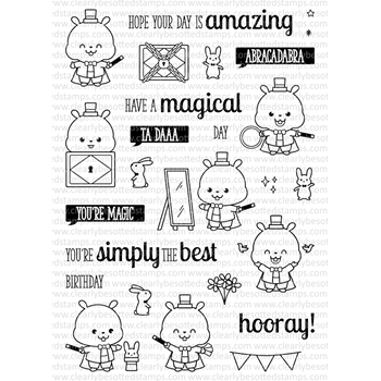 Clearly Besotted ABRACADABRA Clear Stamp Set