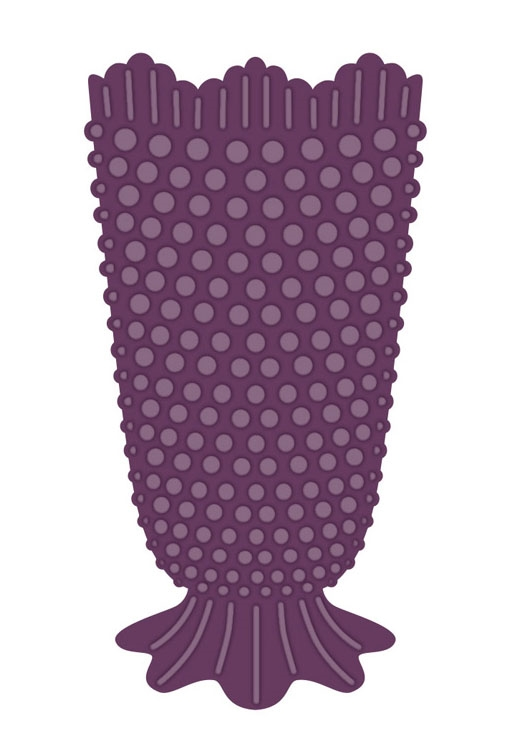 Creative Expressions HOBNAIL VASE Sue Wilson Finishing Touches Die Set CED1486 zoom image