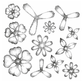 Creative Expressions SHADED SUCCULENTS Sue Wilson Cling Stamp UMS787