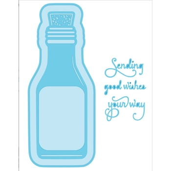 Creative Expressions MESSAGE IN A BOTTLE Sue Wilson Fillables Collection Die Set CED21008