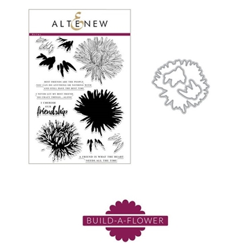 Altenew BUILD A FLOWER ASTER Clear Stamp and Die Set