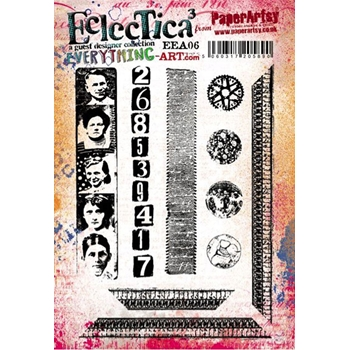 Paper Artsy EVERYTHING ART 06 ECLECTICA3 Rubber Cling Stamp EEA06