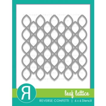 Reverse Confetti LEAF LATTICE Stencil