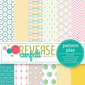 Reverse Confetti PATTERN PLAY 6x6 Inch Paper Pad Preview Image