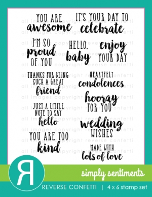Reverse Confetti Simply Sentiments Stamp set