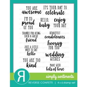 Reverse Confetti SIMPLY SENTIMENTS Clear Stamp Set