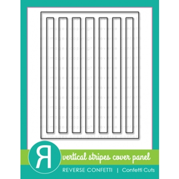 Reverse Confetti Cuts VERTICAL STRIPES Cover Plate Die