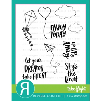 Reverse Confetti TAKE FLIGHT Clear Stamp Set