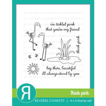 Reverse Confetti THINK PINK Clear Stamp Set