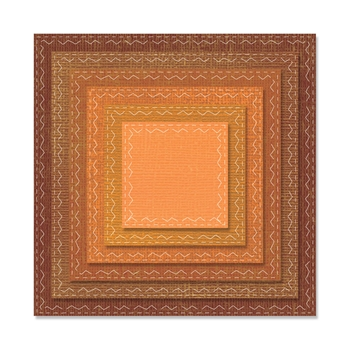 Tim Holtz Sizzix Framelits STITCHED SQUARES Wafer Thin Die Set 662231