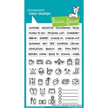 Lawn Fawn PLAN ON IT VACATION Clear Stamps LF1422