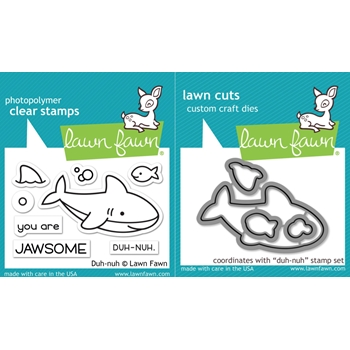 Lawn Fawn SET LF17SETDN DUH-NUH Clear Stamps and Dies