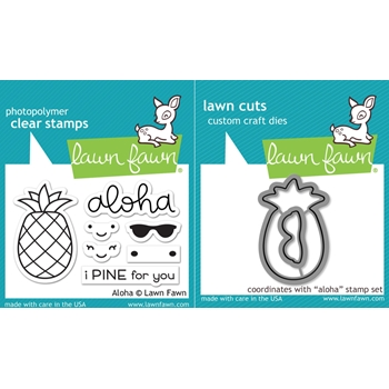 Lawn Fawn SET LF17SETA ALOHA Clear Stamps and Dies