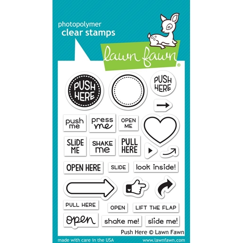 Lawn Fawn PUSH HERE Clear Stamps LF1415 Preview Image