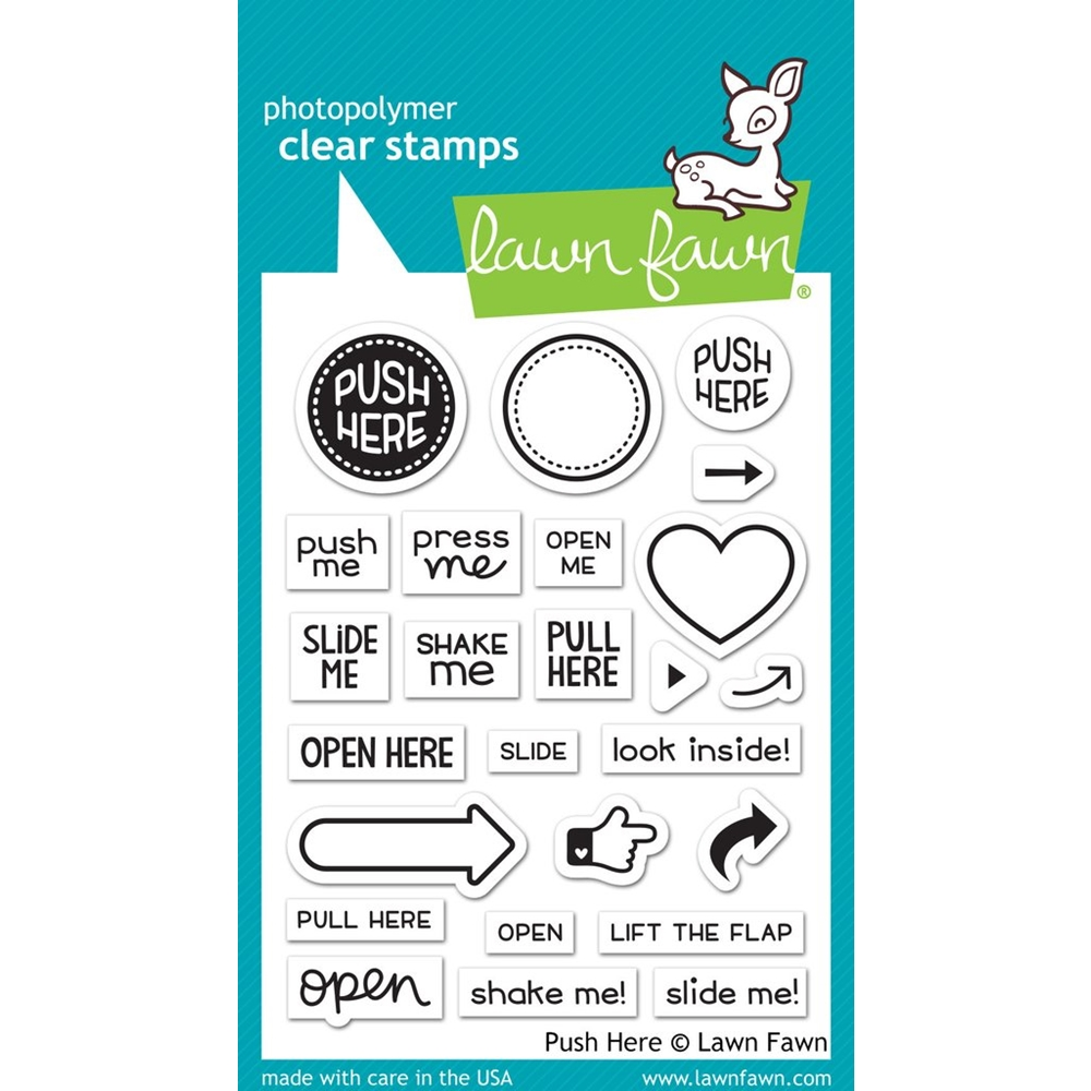 Lawn Fawn PUSH HERE Clear Stamps LF1415 zoom image