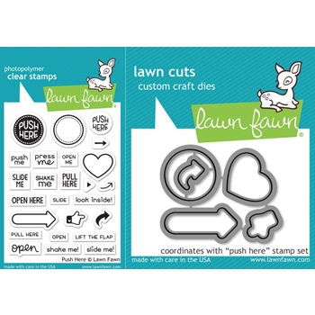 Lawn Fawn SET LF17SETPH PUSH HERE Clear Stamps and Dies