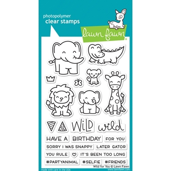 Lawn Fawn WILD FOR YOU Clear Stamps LF1413