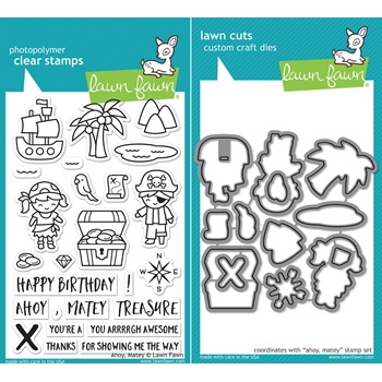 Lawn Fawn SET LF17SETAM AHOY MATEY Clear Stamps and Dies