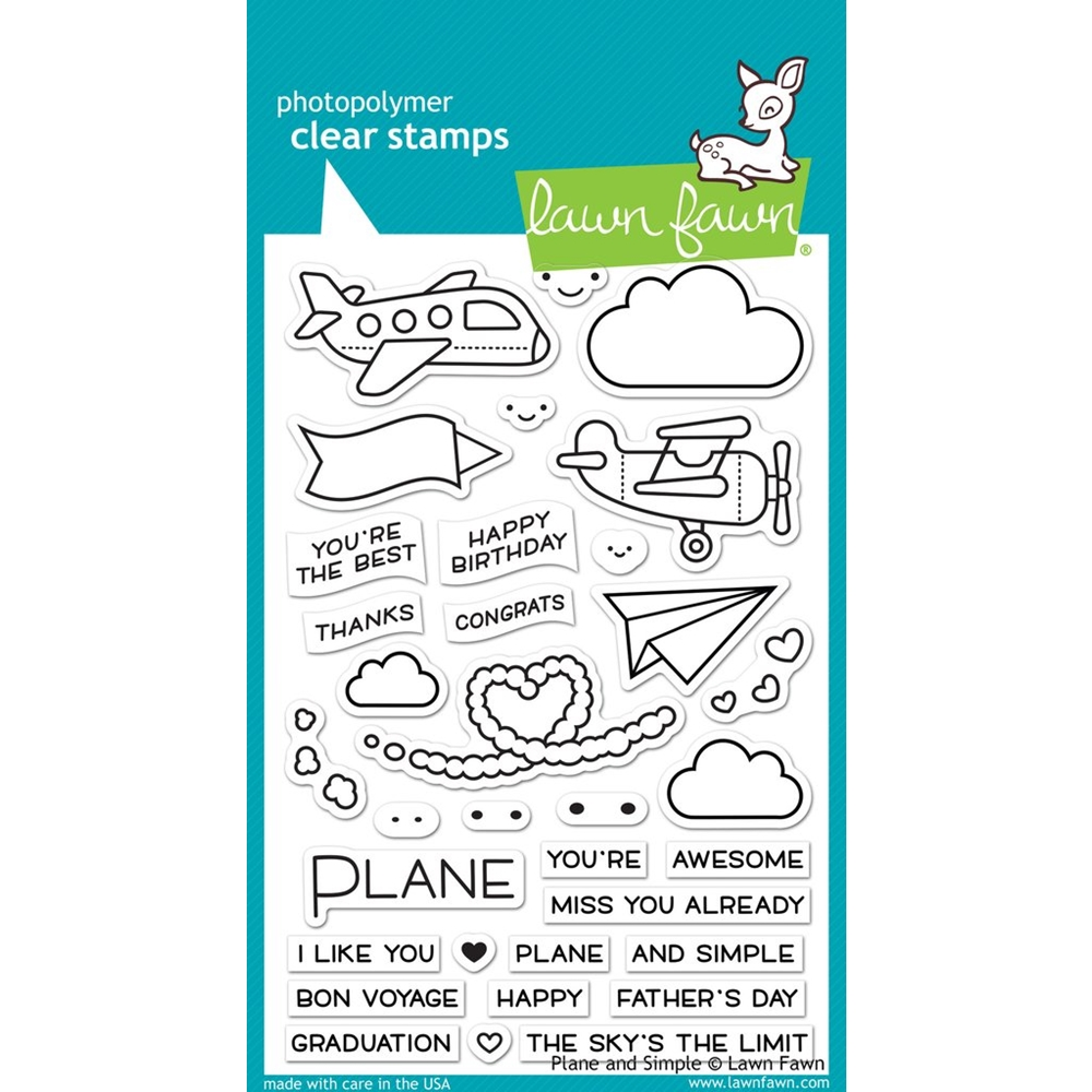 Lawn Fawn PLANE AND SIMPLE Clear Stamps LF1409 zoom image