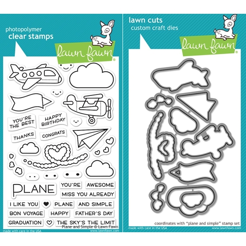 Lawn Fawn SET LF17SETPAS PLANE AND SIMPLE Clear Stamps and Dies Preview Image