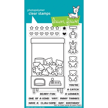 Lawn Fawn YOU'RE CLAW-SOME Clear Stamps LF1405