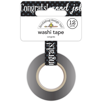 Doodlebug CONGRATS Washi Tape Hats Off 5557