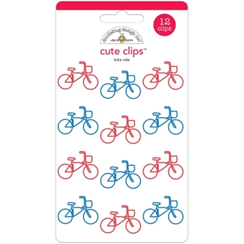 Doodlebug BIKE RIDE Cute Clips Paperclips Yankee Doodle 5592