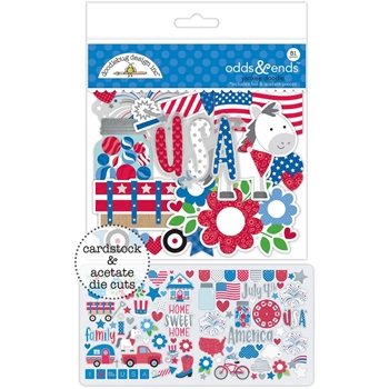 Doodlebug YANKEE DOODLE Odds and Ends Die Cut Shapes 5597
