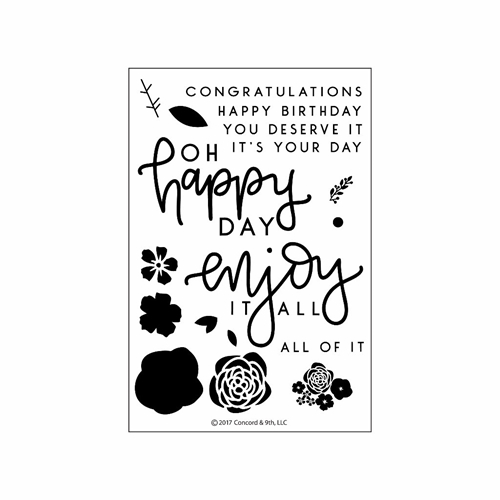 Concord & 9th ENJOY IT ALL Clear Stamp Set 10210C9* Preview Image