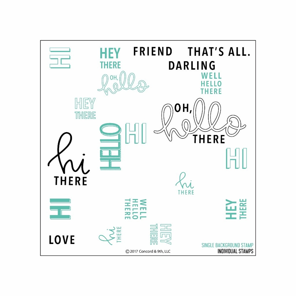 Concord & 9th OH, HELLO TURNABOUT Clear Stamp Set 10202C9 zoom image