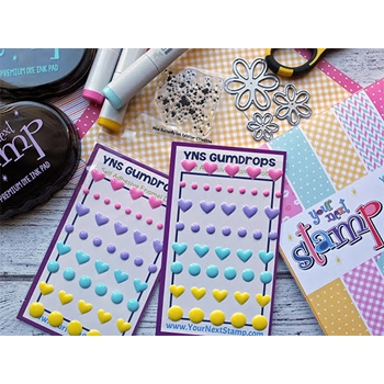Your Next Stamp HEARTS AND DOTS Gumdrops YNSGD080
