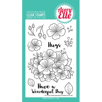 Avery Elle Clear Stamps FLORAL BOUQUET ST-17-20