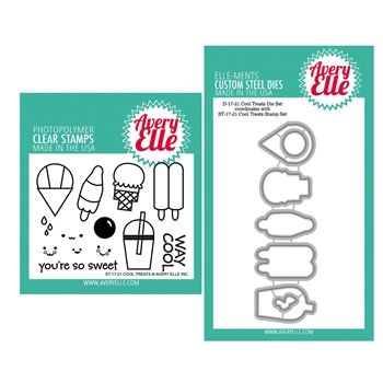 Avery Elle Clear Stamp and Die SETCLTAE Cool Treats SET