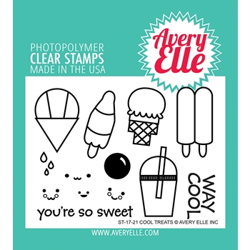 Avery Elle Clear Stamps COOL TREATS ST-17-21