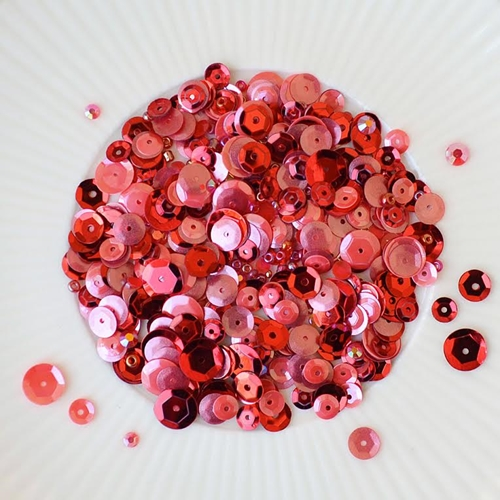 Little Things From Lucy's Cards RUBY RING Sequin Shaker Mix LB131 Preview Image