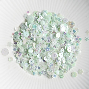 Little Things From Lucy's Cards PALE PISTACHIO Sequin Shaker Mix LB128