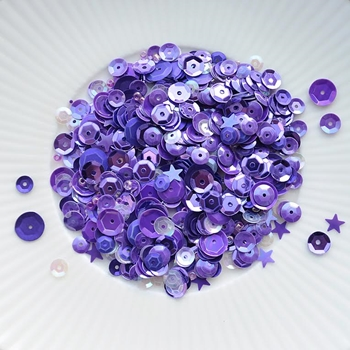 Little Things From Lucy's Cards LAVENDER Sequin Shaker Mix LB129