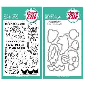 Avery Elle Clear Stamp and Die SETBBAE Bubbles SET