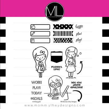 Mommy Lhey WORKING GALS Clear Stamp MLCWG