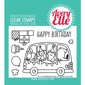 Avery Elle Clear Stamps BIRTHDAY BUS ST-17-23